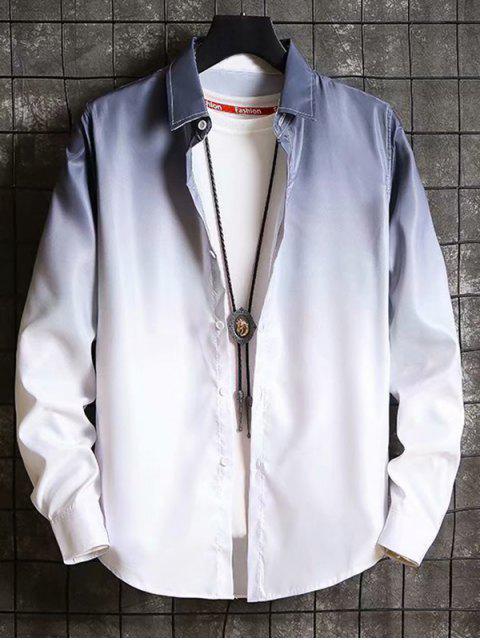 Camisa Holgado Degradado Manga Larga - Negro XS Mobile