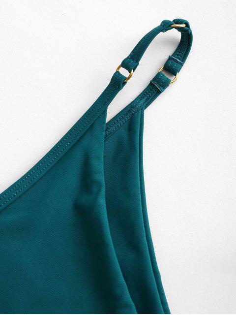 ZAFUL O Ring Schnur Bikini Unterteile mit Hohem Schnitt - Blaugrün L Mobile