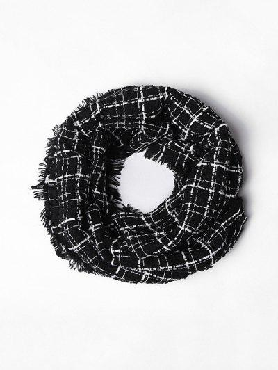 Plaid Fringe Faux Cashmere Scarf - from $10.95