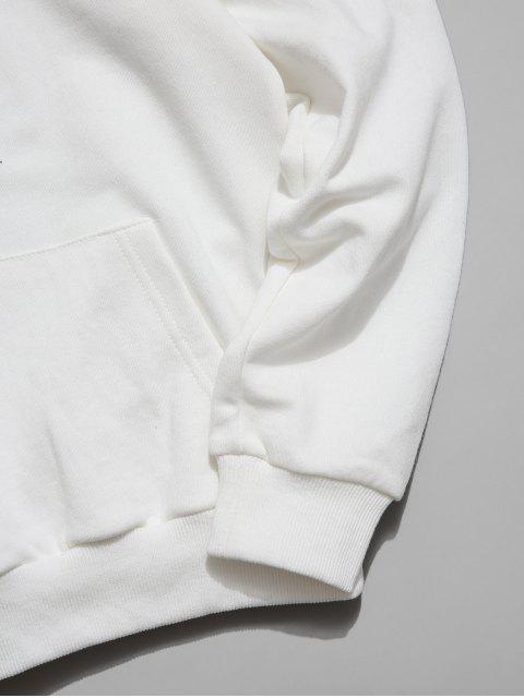 Charakter und Katzedruck Lässiger Hoodie - Weiß 2XL Mobile