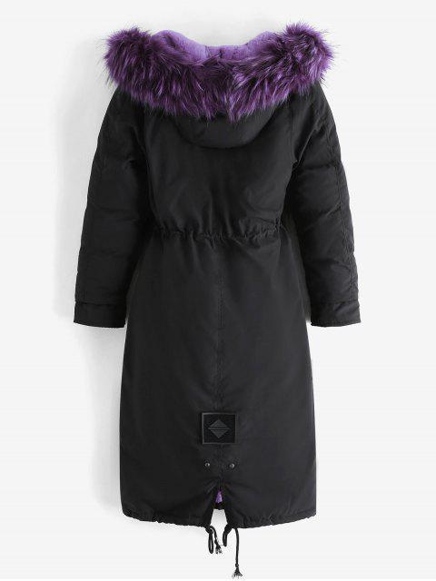 Abnehmbare Taschen Pelz Kragen Tasche - Lila L Mobile