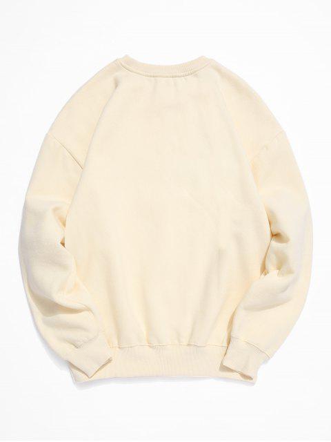 至尊信打印羊毛圓領運動衫 - 水晶霜 2XL Mobile