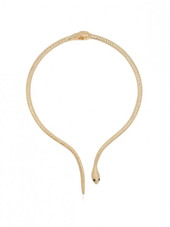 womens Snake Shape Alloy Open Necklace - GOLD
