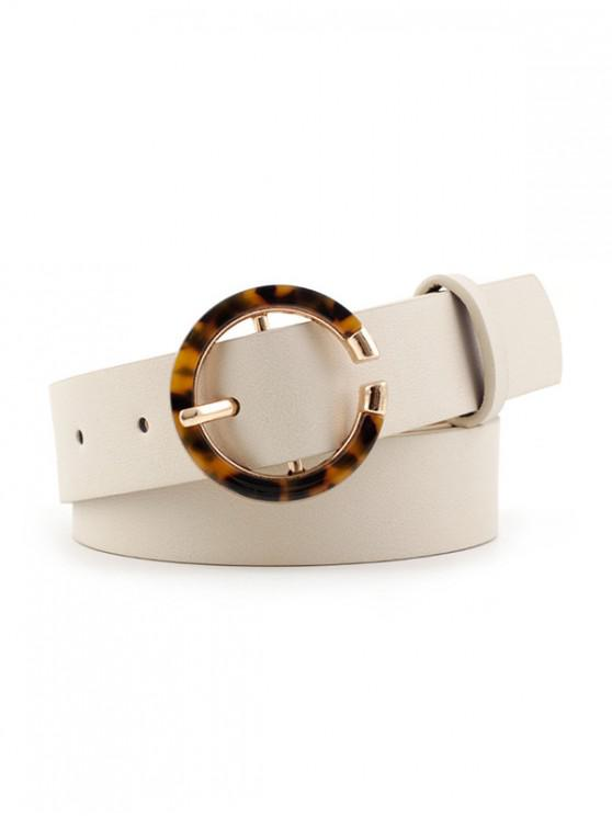 women's Thin Round Buckle Decorative Belt - WHITE