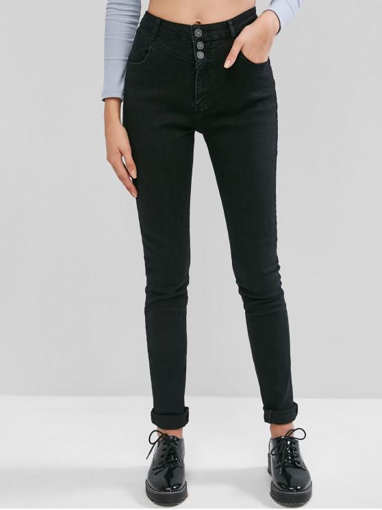 best Skinny Basic Jeans - BLACK L