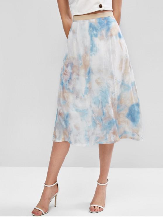 fashion ZAFUL Tie Dye Skirt - MULTI-A M