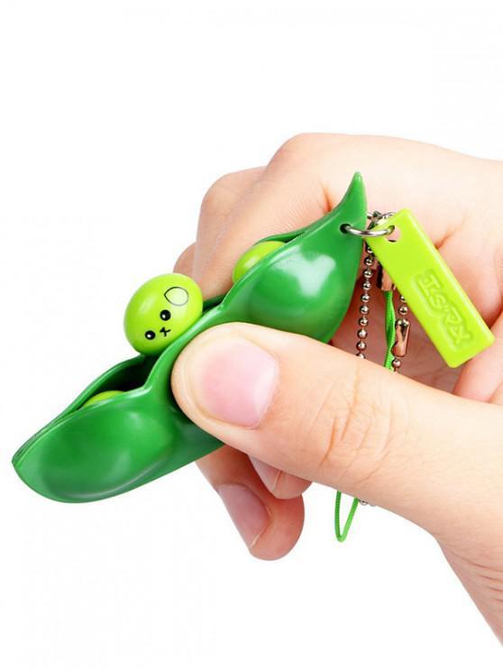 Spremere Giocattoli Stress Relief Cartoon squeeze Bean - Giallo Verde