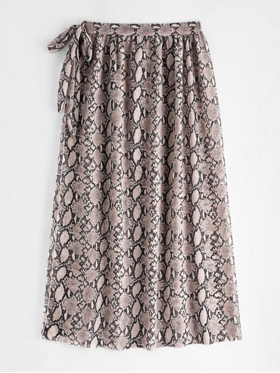 chic Snake Print Beach Wrap Skirt - MULTI-A ONE SIZE