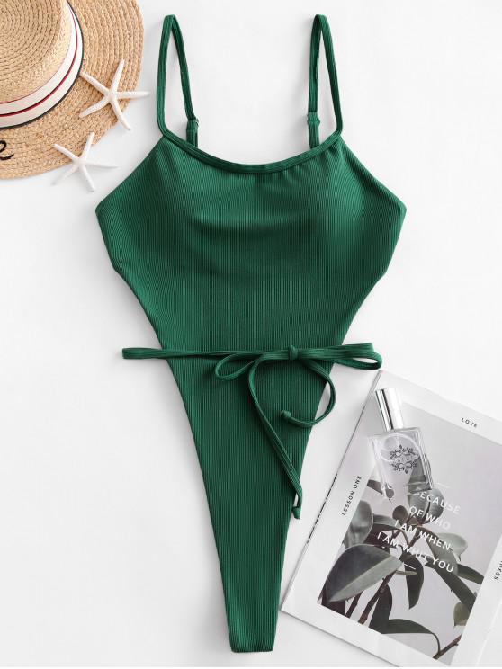 ZAFUL صفيق مضلع التعادل ملابس السباحة Monokini - متوسطة البحر الخضراء S