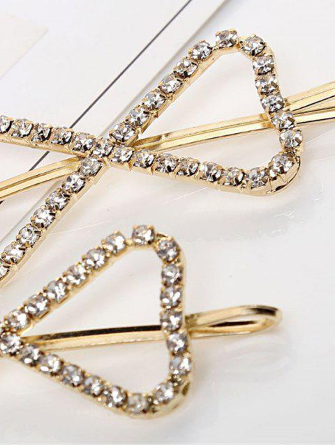 chic 1 PC Hollow Out Rhinestone Bowknot Hair Grip - GOLD  Mobile