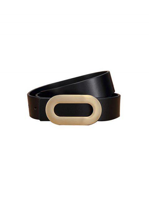 Овальная пряжка Пояс Рубашка - Чёрный  Mobile