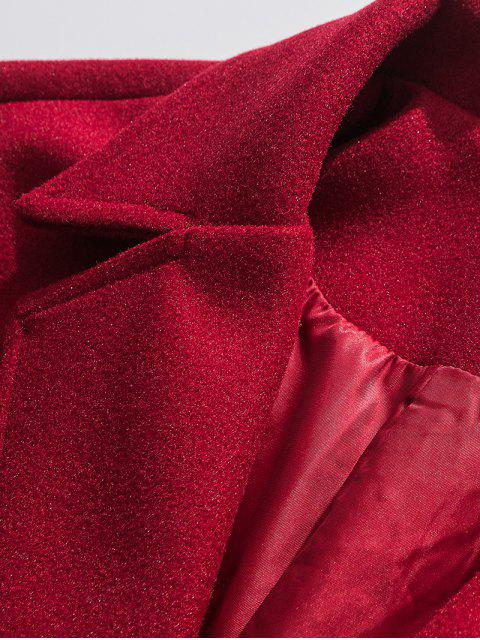 Tropfen Schultertaschen Longline Wollmantel - Rot 3XL Mobile