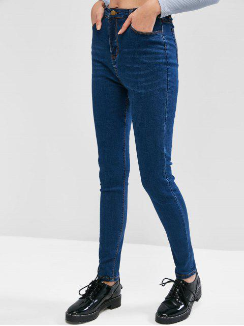 Taschen Cat Whiskers mit hohen Taille Jeans - Blau M Mobile