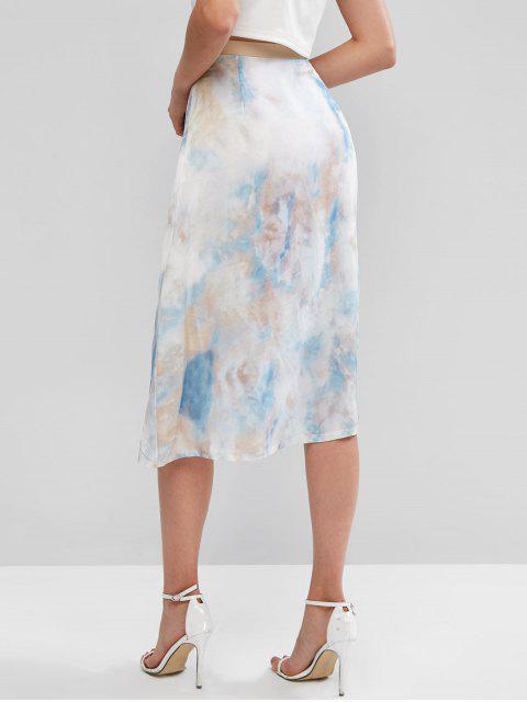 ZAFUL Falda de Teñido de Corbata - Multicolor-A M Mobile