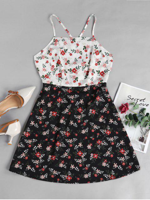 ZAFUL Vestido de Sol con Estampado Floral - Multicolor-A XL Mobile