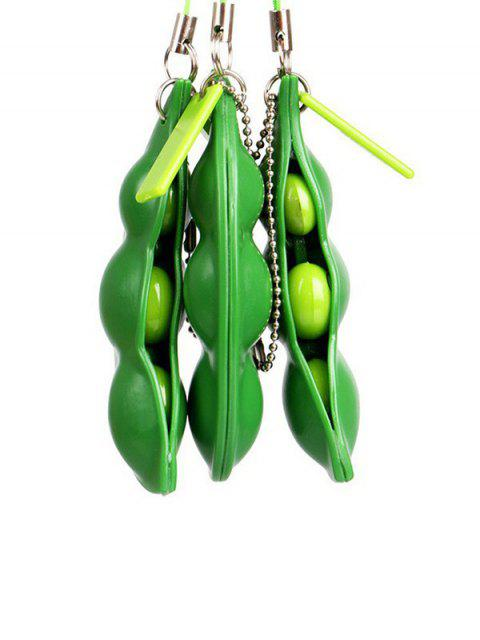 Spremere Giocattoli Stress Relief Cartoon squeeze Bean - Giallo Verde  Mobile