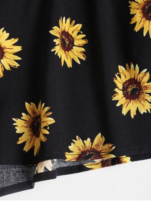 ZAFUL Mono Femenino Interior de Tirante Fino con Cintura Elástica de Girasol - Negro L Mobile