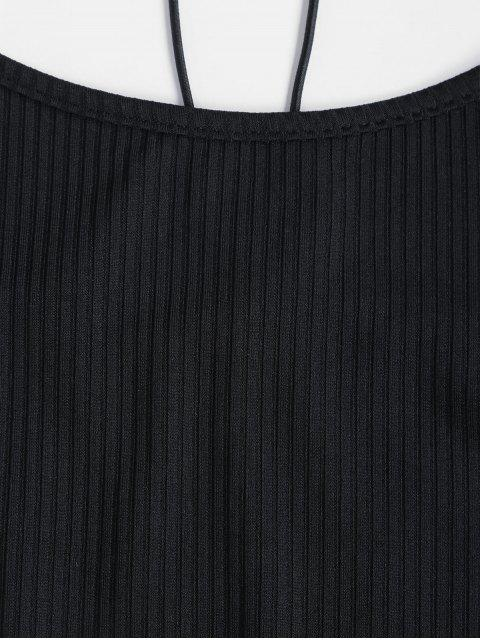 Top Cami a Costine in Pizzo Indietro di ZAFUL - Nero XL Mobile