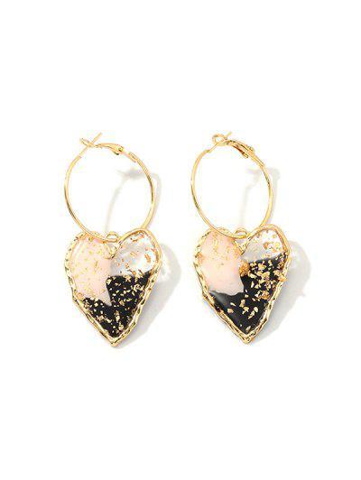 Irregular Heart Hoop Earrings - from $4.03