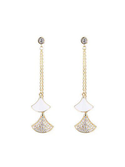 Sector Shape Rhinestone Dangle Earrings - from $3.65