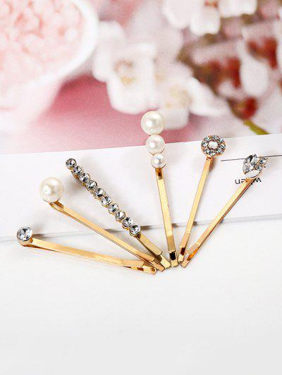 6Pcs Faux Pearl Rhinestone Hairpin Set - from $7.11