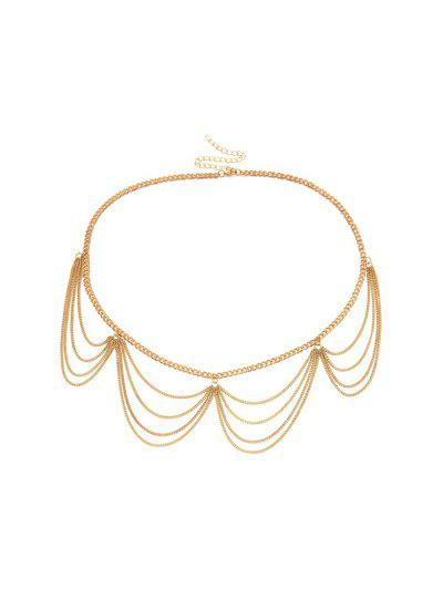 Wavy Layers Metal Waist Chain - from $6.00