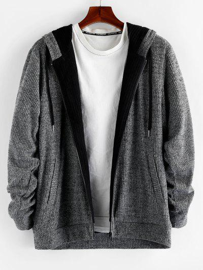 Heathered Hooded Cardigan - from $27.99