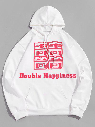 Chinese Letter Print Hoodie - from $22.00