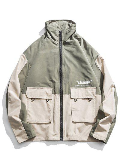 Two Tone Pockets Casual Jacket - from $43.99