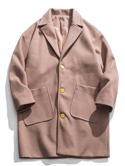 Pockets Woolen Coat - from $54.99