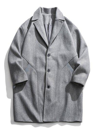 Image of Single Breasted Woolen Coat