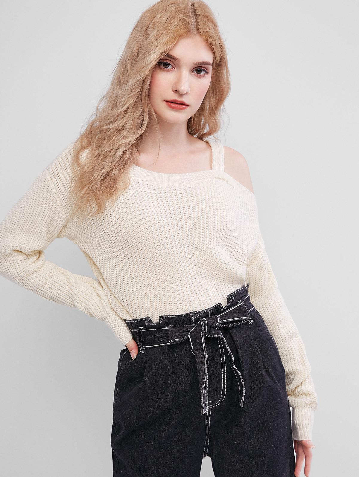 Skew Neck Sweater