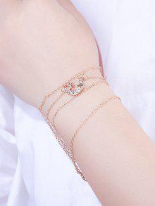 5Pcs Stars Moon Rhinestone Bracelet Set
