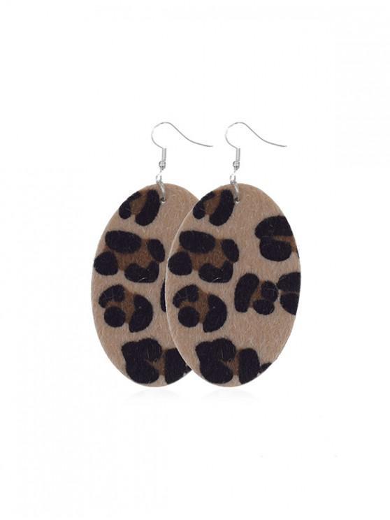เสือดาวรี Mohair Drop ต่างหู - เสือดาว