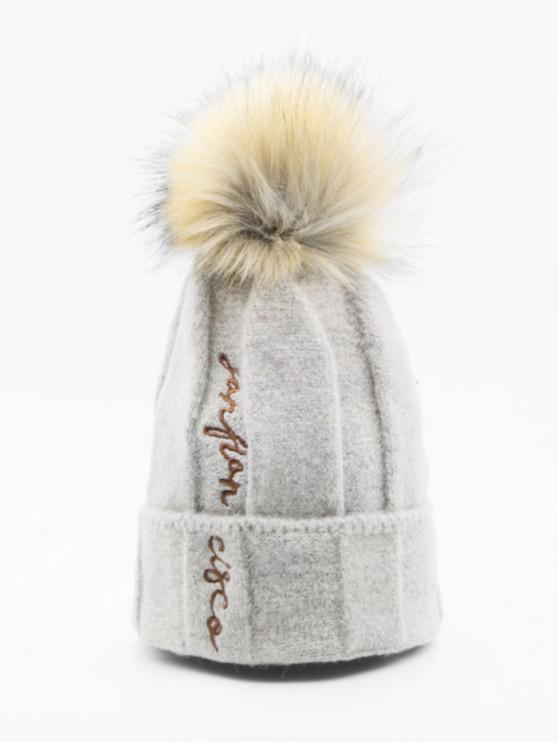 unique Winter Character Elastic Bobble Hat - LIGHT KHAKI