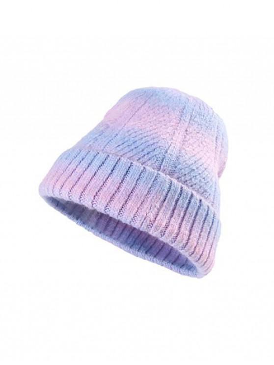 unique Winter Gradient Color Knitted Hat - LIGHT BLUE