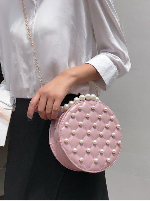 Perle runde Umhängetasche - Rosa  Mobile