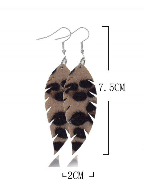 Форма листаи леопарда Серьги с подвеской - Леопард  Mobile