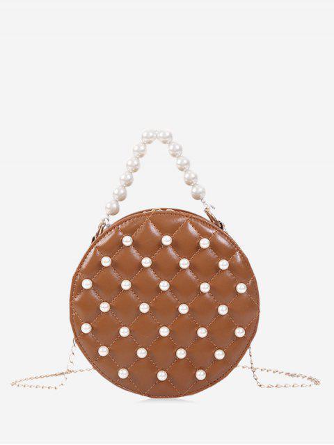 Perle runde Umhängetasche - Braun  Mobile