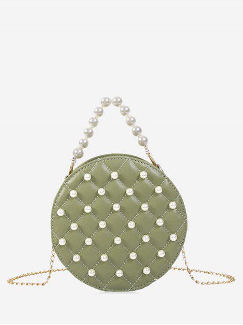 Perle runde Umhängetasche - Hellgrün  Mobile