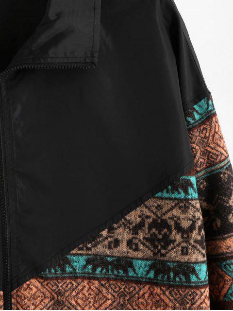 ZAFUL Stammes- Druck Colorblock Splicing Jacke - Multi 2XL Mobile