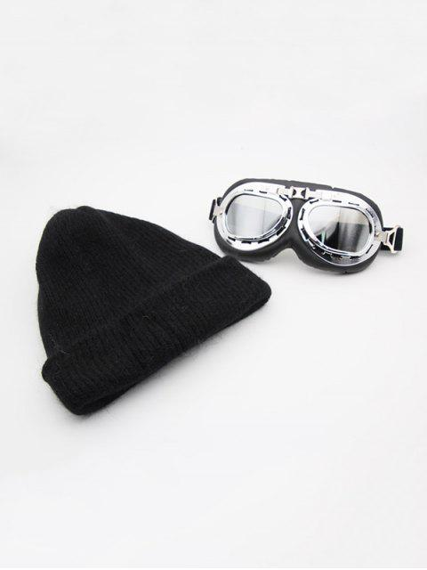 Winter Goggles Dekorative Strickmütze - Schwarz  Mobile