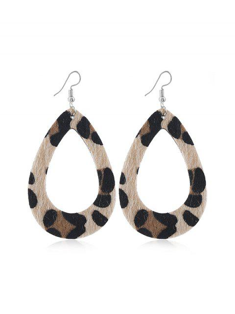 4pairs Leopard Teardrop Ohrringe Set - Leopard  Mobile