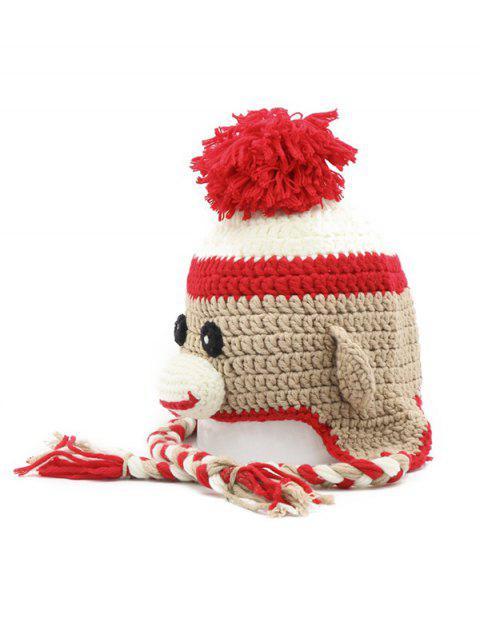 Oreille Cartoon Crochet pompon - Marron Camel  Mobile