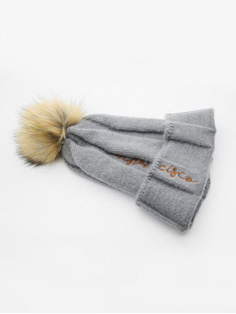 Winter Charakter Elastic Pudelmütze - Dunkelgrau  Mobile
