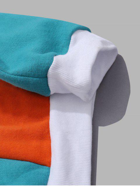 Grafik gedruckt Reißverschluss-Taschen-Entwurf Hoodie - Weiß 2XL Mobile