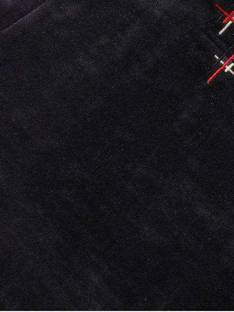 模擬領休閒衛衣 - 黑色 2XL Mobile