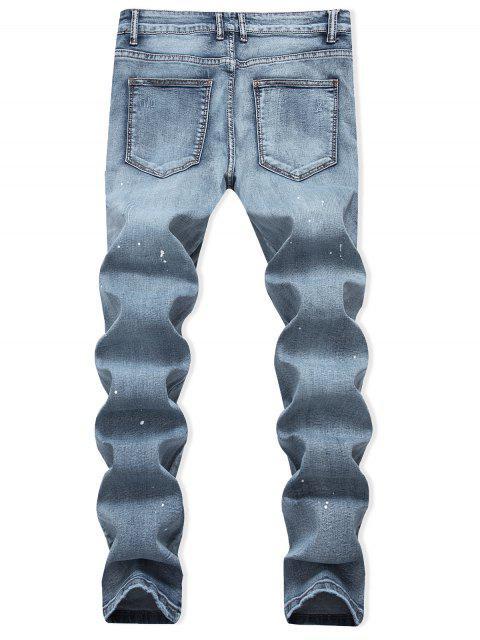 PantalonesVaqueros Diseño Impreso Puntos - Azul de Jeans  36 Mobile
