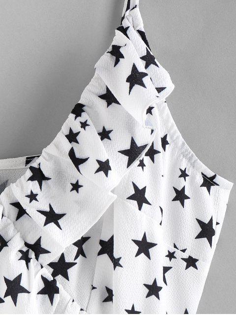 ZAFUL Vestido de Cami Tulipán con Volantes y Estrella - Blanco XL Mobile
