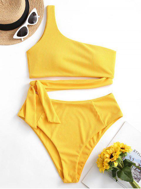 Bikini Annodato a Monospalla di ZAFUL - Giallo Luminoso S Mobile